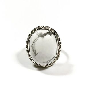 Sterling Silver White Buffalo Turquoise Ring